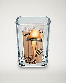 Box Leg Lamp Square Shot Glass 2.25 oz. - A Christmas Story