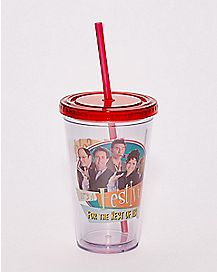 Festivus Seinfeld Cup with Straw - 16 oz.