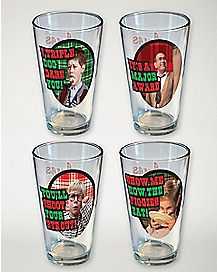 A Christmas Story Pint Glass 4 Pack - 16 oz.