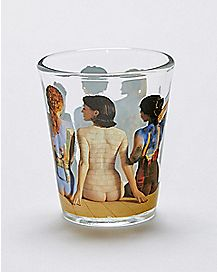 Naked Women Pink Floyd Shot Glass - 1.5 oz.