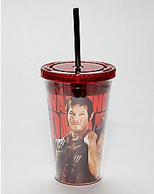 Daryl Dixon Cup With Straw 20 oz. - The Walking Dead