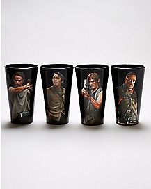 The Walking Dead Pint Glass 4 Pack - 16 oz.