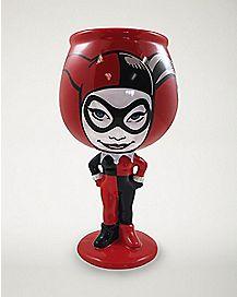 Molded Harley Quinn Goblet 12 oz. - DC Comics