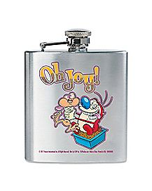 Oh Joy Ren and Stimpy Flask 8 oz. - Nickelodeon