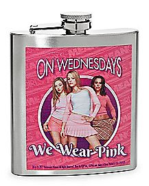 On Wednesdays We Wear Pink Flask 8 oz. - Mean Girls