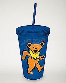 Grateful Dead Cup With Straw - 16 oz.