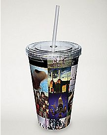 Album Covers Pink Floyd Cup With Straw - 16 oz.