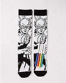 DIY Color The Flash Crew Socks - DC Comics