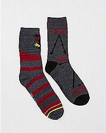 Gray Harry Potter Crew Socks - 2 Pack