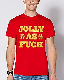 Jolly As Fuck Christmas T Shirt