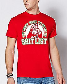 Shit List Santa Christmas T Shirt