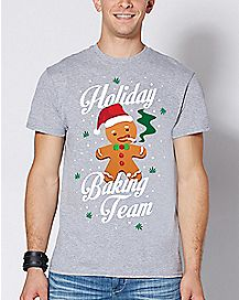 Gingerbread Man Holiday Baking Team Ugly Christmas T Shirt