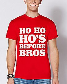 Ho Ho Ho's Before Bros Christmas T Shirt