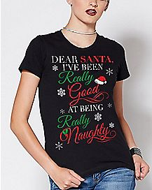 Really Good At Being Really Naughty Christmas T Shirt