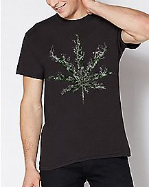 Smoke Pot Leaf T Shirt