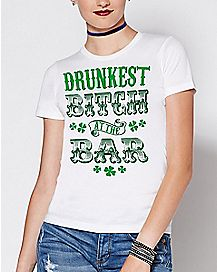 Drunkest Bitch At The Bar T Shirt