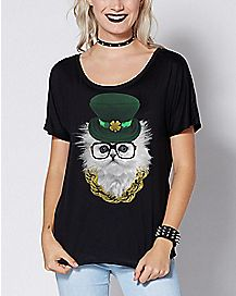 Cat Leprechaun T Shirt