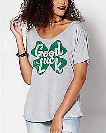 Good Luck Shamrock T Shirt