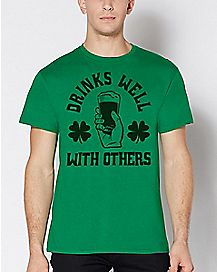Shamrock Drinks Well With Others T Shirt