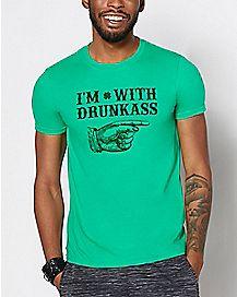 I'm With Drunkass T Shirt