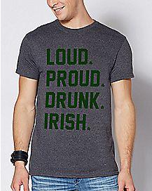 Loud Proud Drunk Irish T Shirt