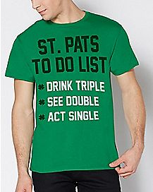 St. Pats To Do List T Shirt