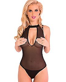 Sheer Mesh Bodysuit
