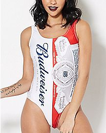 Budweiser One Piece Bathing Suit