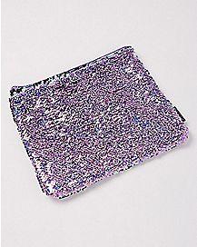 Purple Magic Sequin Pouch Wallet