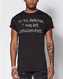 Left Unsupervised Plus Size T Shirt