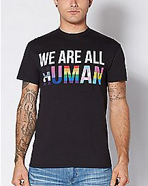 We Are All Human Plus Size T Shirt