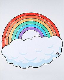Cloud Rainbow Beach Blanket