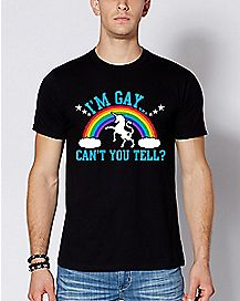 Unicorn I'm Gay Can't You Tell T Shirt