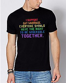 Rainbow I Support Gay Marriage T Shirt