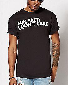 Fun Fact I Don't Care Plus Size T Shirt