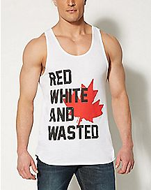 Red White and Wasted Canada Tank Top