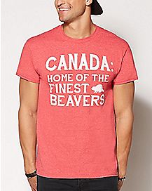 Home of the Finest Beavers Canada T Shirt