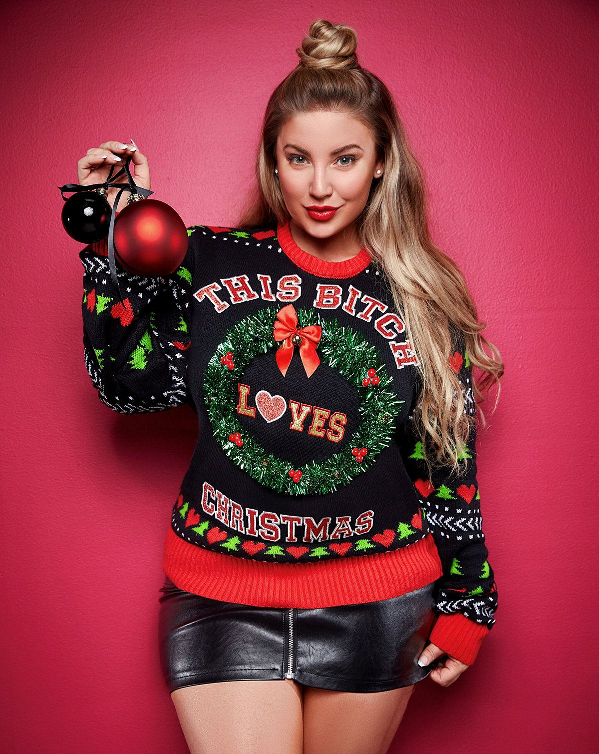 This Bitch Loves Christmas Ashley Alexiss Ugly Christmas Sweater