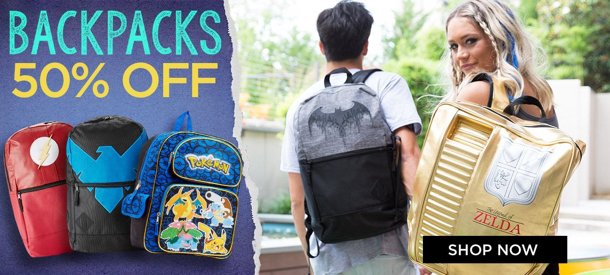 Backpacks 50% OFF
