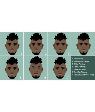 face facial piercing chart