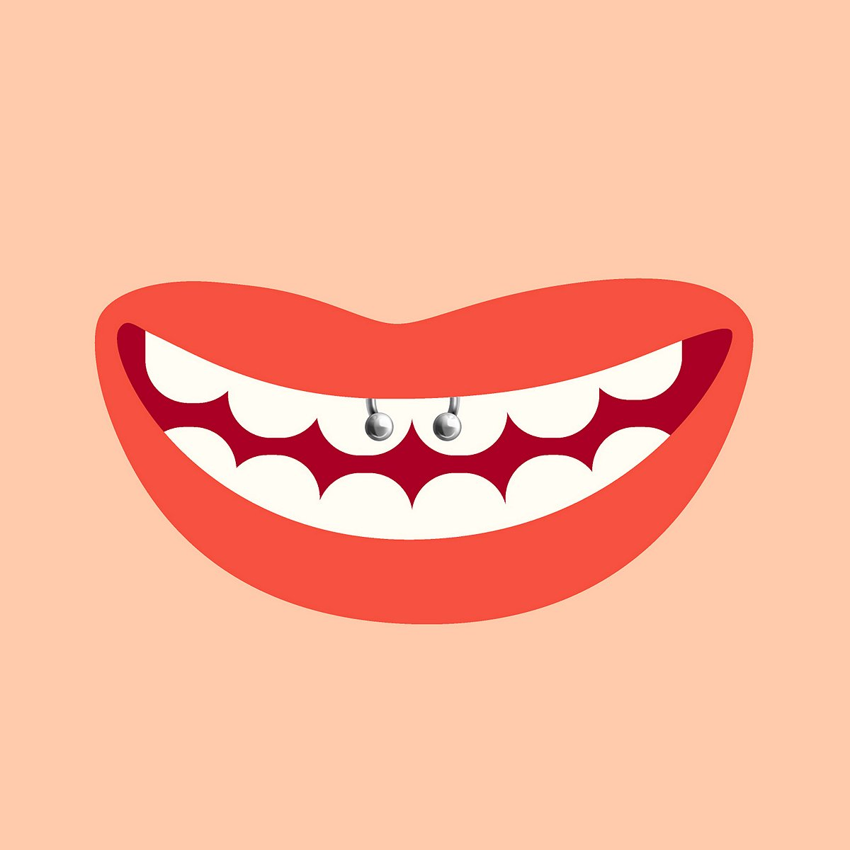 Lip Frenulum Piercing (Smiley Piercing)
