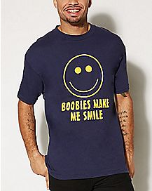 Boobies Make Me Smile T shirt