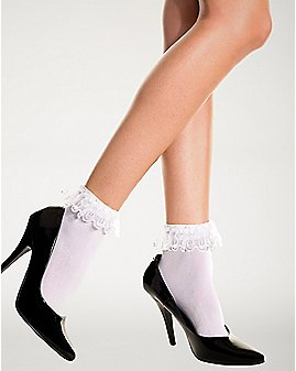 White Ruffle Socks