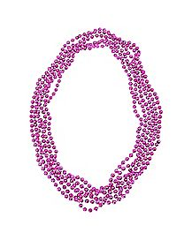 Pink Party Bead Bachelorette Necklace - 6 Pack