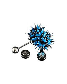 Blue and Black Koosh Vibrating Barbell - 14 Gauge
