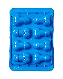 'Blue Balls' Penis and Ball Shaped Ice Cube Tray