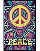 Peace Blacklight Poster