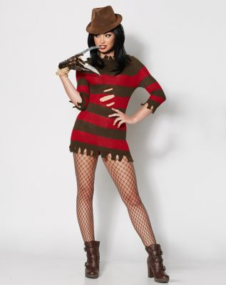Adult Miss Freddy Krueger Costume - Nightmare on Elm Street - Size Adult XS - by Spencer