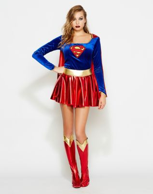 Adult Supergirl Costume - DC Comics  sc 1 st  Spenceru0027s Online & Adult Supergirl Plus Size Costume - DC Comics - Spenceru0027s