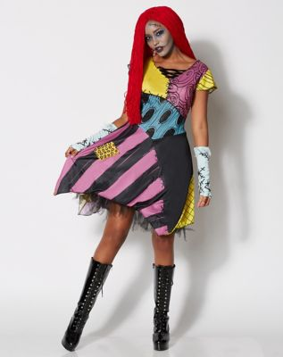 adult sassy sally costume the nightmare before christmas spencers - Sally Nightmare Before Christmas Wig